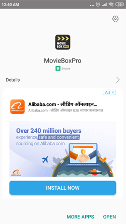 Install MovieBox on Android Smartphones